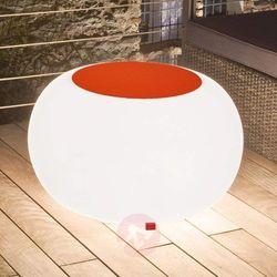 Moree Stół bubble, białe światło i pomarańczowy filc (4260218361843)