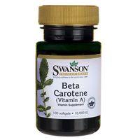 Swanson Beta Caroten (Witamina A) 10000IU 100 kaps. (Witaminy i minerały)