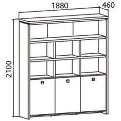 Szafa Assist z półkami, 1880 x 460 x 2100 mm, orzech