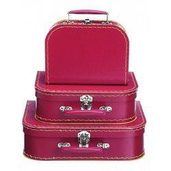 Walizeczki czerwone komplet 3 sztuk - zabawki dla dzieci - produkt z kategorii- walizeczki