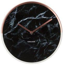 :: zegar ścienny marble delight czarny marki Karlsson