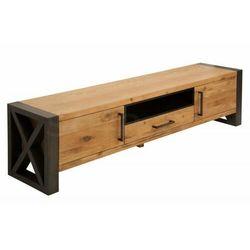 INVICTA szafka pod telewizor THOR 200cm - płyta MDF, drewno naturalne, metal