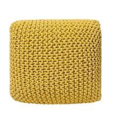 Puf żółty 50 x 50 x 31 cm conrad marki Beliani