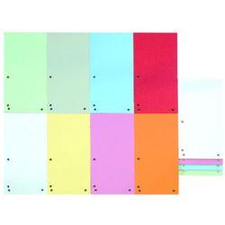 Przekładki DONAU, karton, 1/3 A4, 235x105mm, 100szt., mix kolorów