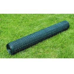 siatka ogrodzeniowa, ogrodzenie, kryte pcv 75 cm x 25 m 1,1 mm od producenta Vidaxl