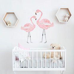 Naklejka ścienna Dekornik - Flamingi (110x110)