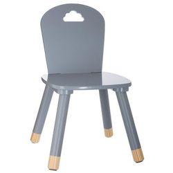 Krzesło dziecięce, DZIECIĘCY MEBEL - kolor szary, 50 x 28 x 28 cm (3560238909126)