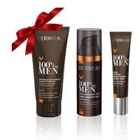 Prezent: Dermika 100% For Men - krem pod oczy + balsam po goleniu + krem do twarzy - produkt z kategorii- Kosm