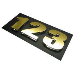 Numer, Numery, Cyfra, Cyfry na drzwi, laminat złoto drapane - sprawdź w wybranym sklepie