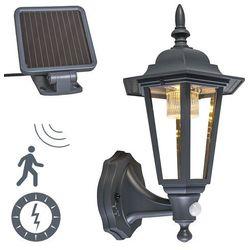 Lampa zewnętrzna LED New York ciemnoszara na energię słoneczną (lampa zewnętrzna ścienna) od lampyiswiatlo.pl