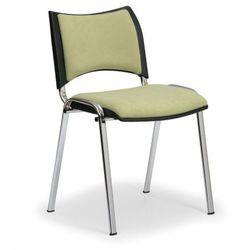 B2b partner Krzesło konferencyjne smart - chromowane nogi, bez podłokietników, zielony
