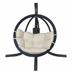 Producent: elior Antracytowy fotel wiszący z kremową poduszką - parys 4x