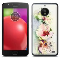 Fantastic Case - Motorola Moto E4 - etui na telefon Fantastic Case - róże herbaciane, kolor różowy