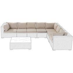 Zestaw poszewek na poduszki do mebli ogrodowych GRANDE karmelowe (4260586359763)