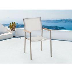 Krzesło do ogrodu tekstylne białe GROSSETO (7081451501073)