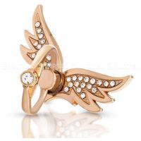 Hurtel Uchwyt na telefon ring z podstawką w kształcie pierścionka skrzydła złoty - 14