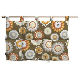 Dekoria Wezgłowie na szelkach, kolorowe kwiaty na brązowym tle, 90 x 67 cm, Wyprzedaż do -30%