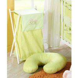 kosz na bieliznę wesołe zajączki w zieleni marki Mamo-tato
