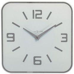 Zegar ścienny Shoko Nextime 43 x 43 cm, biały, kolor biały