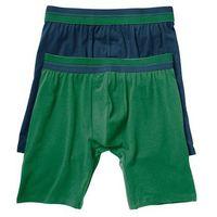 Długie bokserki (2 pary) bonprix ciemnoniebieski + zielony