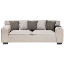 Sofa trzyosobowa tapicerowana beżowa VISKAN
