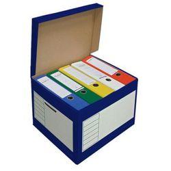 PRESSEL Pudło archiwizacyjne otwierane z góry 410x350x300mm niebieski, 10 sztukac