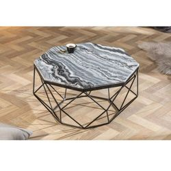 Invicta stolik kawowy diamond 70 cm - szary marmur, marmur, żelazo marki Sofa.pl