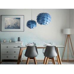 Beliani Lampa wisząca niebieska segre mała