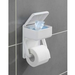 Uchwyt na papier toaletowy z pojemnikiem np. na mokre chusteczki, 2w1, WENKO