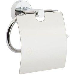 Uchwyt na papier toaletowy z klapką Bisk FOR YOU znal chrom