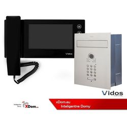 Zestaw jednorodzinny wideodomofonu VIDOS. Skrzynka na listy z wideodomofonem. Monitor 7'' S561D-SKP_M270B