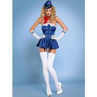 Stewardess gorset kostium 6-częściowy L/XL - produkt z kategorii- Kostiumy erotyczne