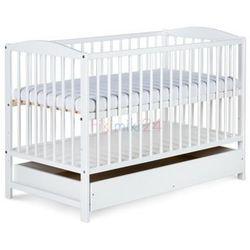 łóżeczko radek ii białe z szufladą 120x60 marki Klupś