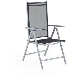 Beliani Zestaw do ogrodu 6 krzeseł czarne aluminiowe regulowane catania (4260602377153)