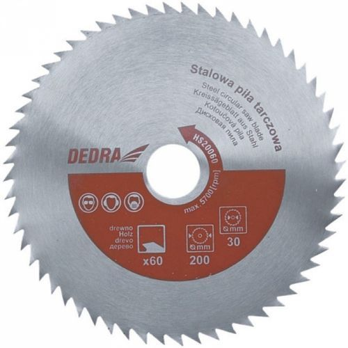 Tarcza do cięcia DEDRA HS20060 200 x 60 mm stalowa uniwersalna - produkt z kategorii- tarcze do cięcia