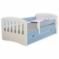 Łóżko dla chłopca z materacem Pinokio 2X 80x140 - niebieskie, Kocot-łóżko-1-classic-niebieskie