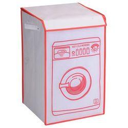 Pojemnik na pranie WASHING MACHINE, 70 litrów, 8718158597281-biały+pomarańczowy