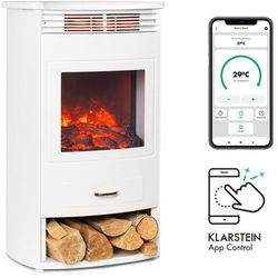 Klarstein bormio smart, kominek elektryczny, 950/1900 w, termostat, timer tygodniowy, biały (4060656231278)