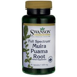 Swanson Full Spectrum Muira Puama Root 400mg 90 kaps.