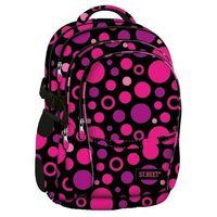 St.reet plecak szkolny bp-01 kropki różowe 608957, marki St. majewski