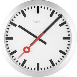 Nextime :: zegar ścienny station Ø 35 cm srebrny