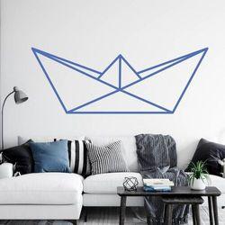 Szablon do malowania papierowa łódka origami 2470 marki Wally - piękno dekoracji
