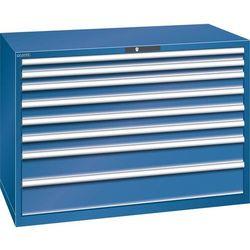 Lista Szafa z szufladami, blacha stalowa, wys.x szer. 1000x1431 mm, 8 szuflad, nośność