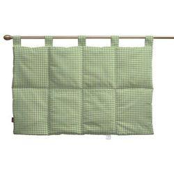wezgłowie na szelkach, zielono biała krateczka (0,5x0,5cm), 90 x 67 cm, quadro marki Dekoria