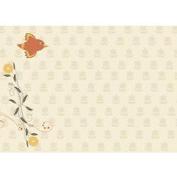Wally - piękno dekoracji Tablica magnetyczna suchoscieralna dla dzieci ptaszek, kwiatek 124