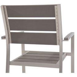 Beliani Zestaw do ogrodu 6 krzeseł szare VERNIO