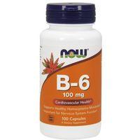 Witamina B-6, 100 mg, 100 kapsułek NowFoods