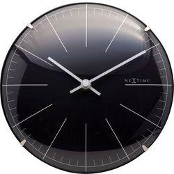 Zegar ścienny / stojący Big Stripe Mini Dome Nextime 20 cm, czarny (3506 ZW) (8717713019671)