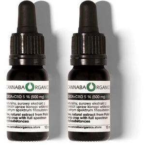 Surowy olej pełne spektrum 5% CBD (500 mg) 10 ml, Olej 5% CBD RAW