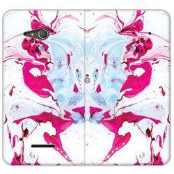 Flex Book Fantastic - Sony Xperia E4g - etui na telefon Flex Book Fantastic - różowy marmur - sprawdź w wyb